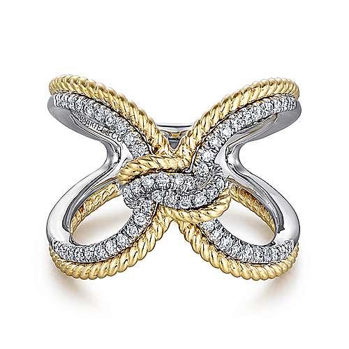 Gabriel - 14k Yellow/white Gold Hampton Fashion Ladies' Ring