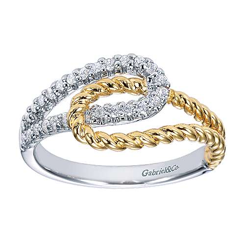 14k Yellow/white Gold Hampton Fashion Ladies