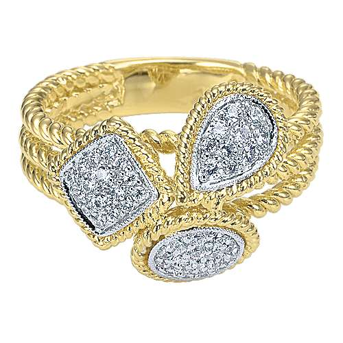 Gabriel - 14k Yellow/white Gold Hampton Fashion Ladies' Ring