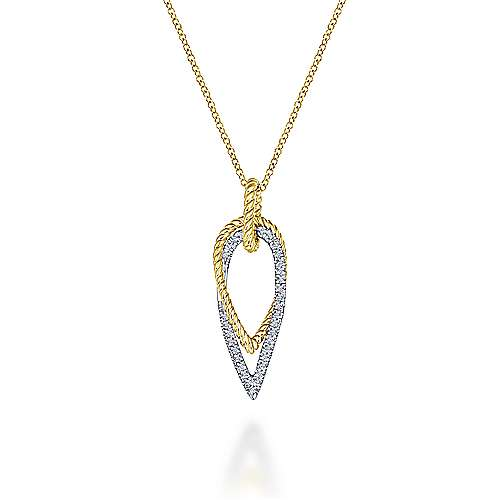 Gabriel - 14k Yellow/white Gold Hampton Fashion Necklace