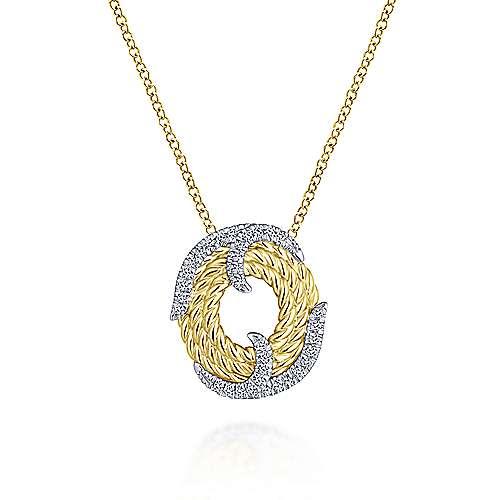 Gabriel - 14k Yellow/white Gold Hampton Fashion Necklace