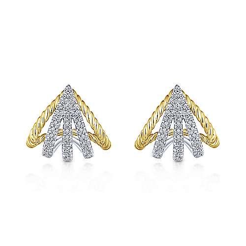 Gabriel - 14k Yellow/white Gold Hampton Stud Earrings
