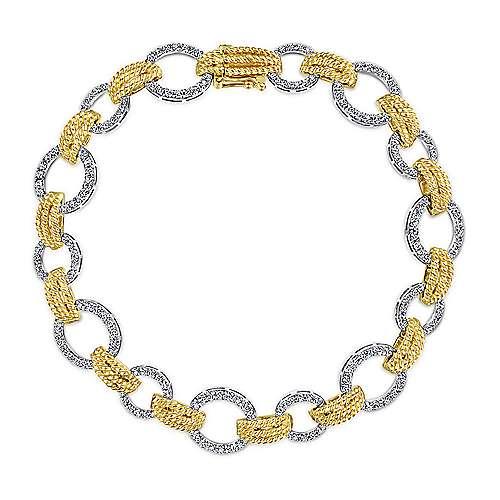 Gabriel - 14k Yellow/white Gold Hampton Tennis Bracelet