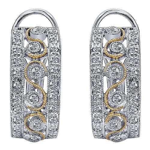 Gabriel - 14k Yellow/white Gold Hoops Fashion Earrings