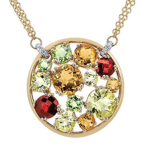 Gabriel - 14k Yellow/white Gold Lusso Color Fashion Necklace