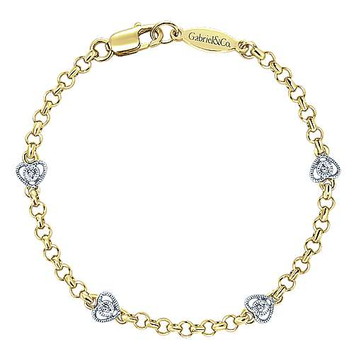 Gabriel - 14k Yellow/white Gold Secret Garden Chain Bracelet