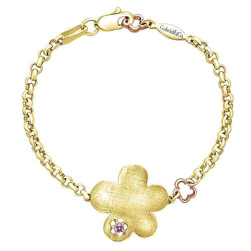 Gabriel - 14k Yellow/white Gold Secret Garden Chain Bracelet