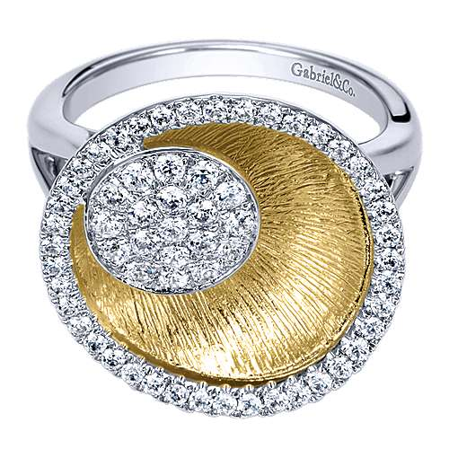 Gabriel - 14k Yellow/white Gold Souviens Fashion Ladies' Ring