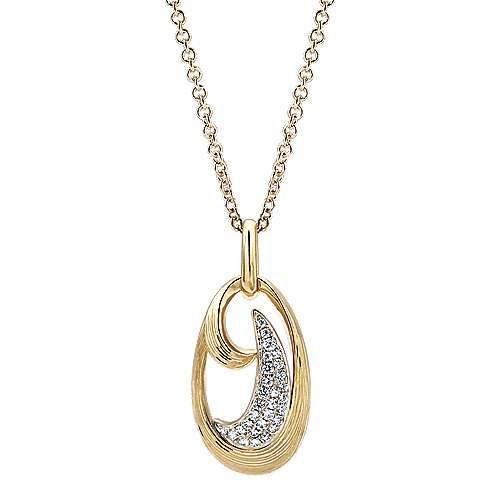 Gabriel - 14k Yellow/white Gold Souviens Fashion Necklace