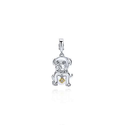 Gabriel - 14k Yellow/white Gold Treasure Chests Charm Pendant