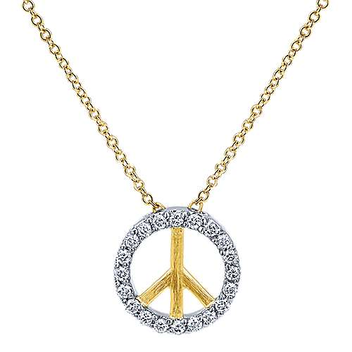 Gabriel - 14k Yellow/white Gold Trends Fashion Necklace