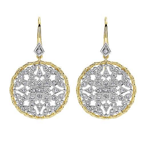 Gabriel - 14k Yellow/white Gold Victorian Drop Earrings