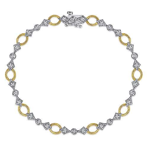 Gabriel - 14k Yellow/white Gold Victorian Tennis Bracelet