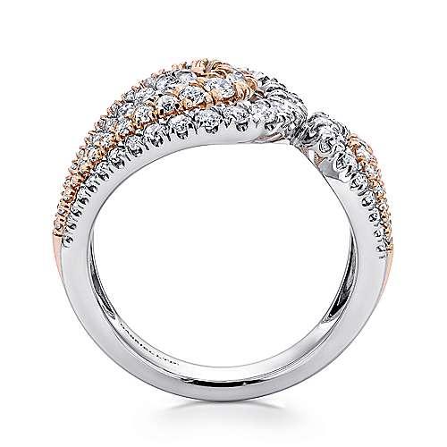 18K P/W. Gold Dia Ring angle 2