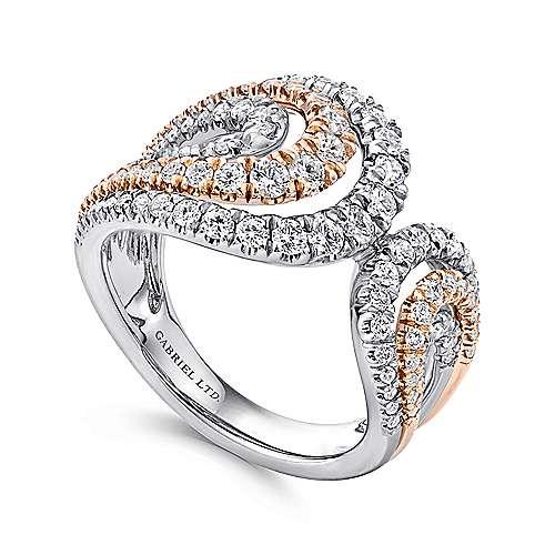 18K P/W. Gold Dia Ring angle 3
