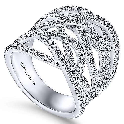 18K W. Gold Dia Ring angle 3