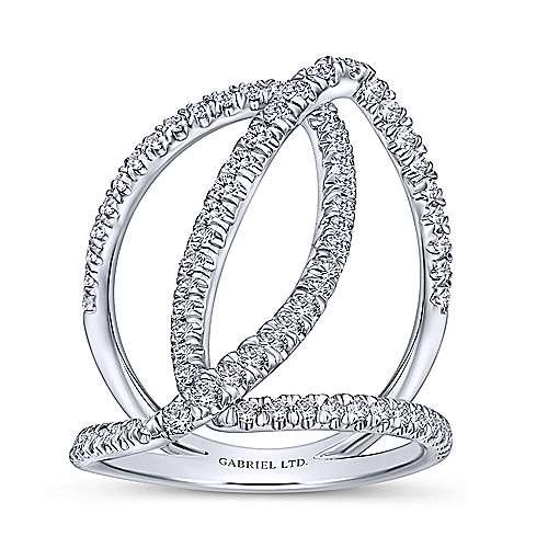 18K W. Gold Dia Ring angle 4