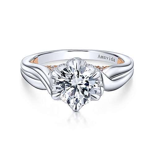 Gabriel - 18k White/pink Gold Majestic Engagement Ring