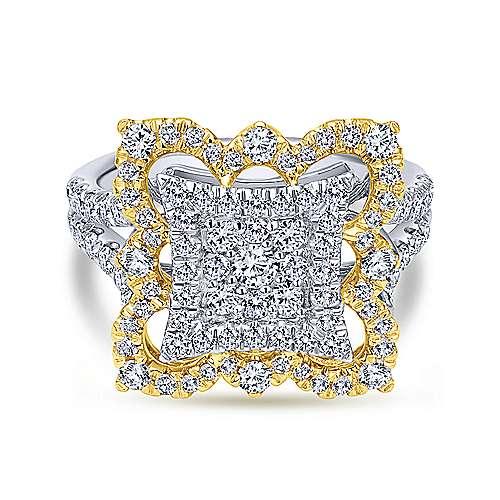 Gabriel - 18k Yellow/white Gold Mediterranean Fashion Ladies' Ring