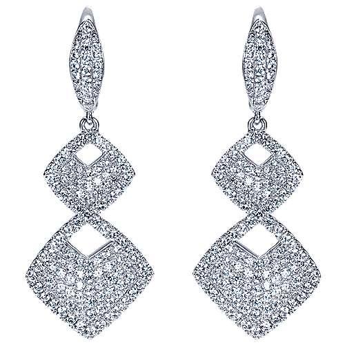 Gabriel - 18k White Gold Silk Drop Earrings