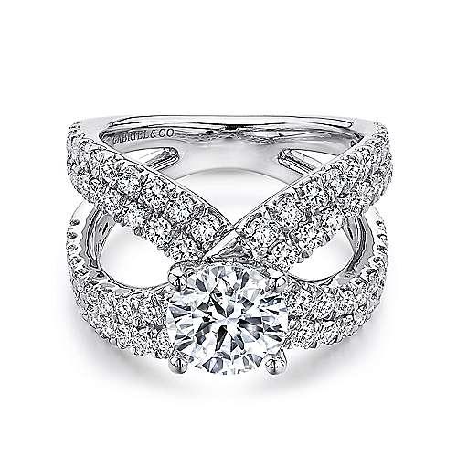 Gabriel - 18k White Gold Nova Engagement Ring