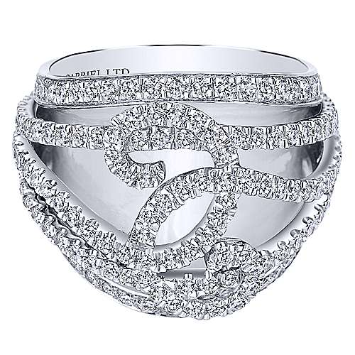 18k White Gold Contemporary Fashion