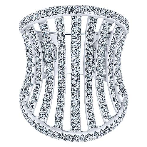 Gabriel - 18k White Gold Contemporary Fashion Ladies' Ring