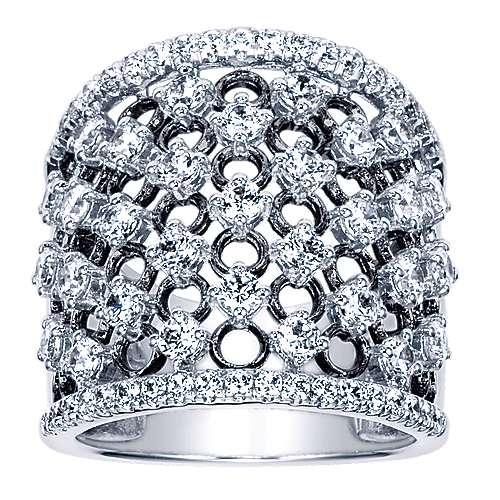 18K W.Gold Dia Ring  angle 5