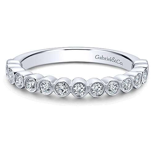 Gabriel - 18k White Gold Contemporary Straight Wedding Band