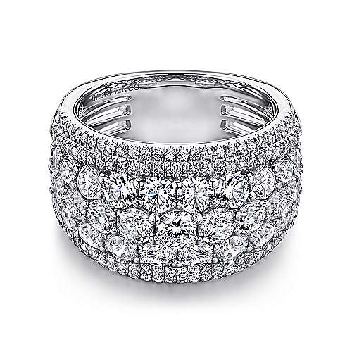 18k White Gold Contemporary Fancy