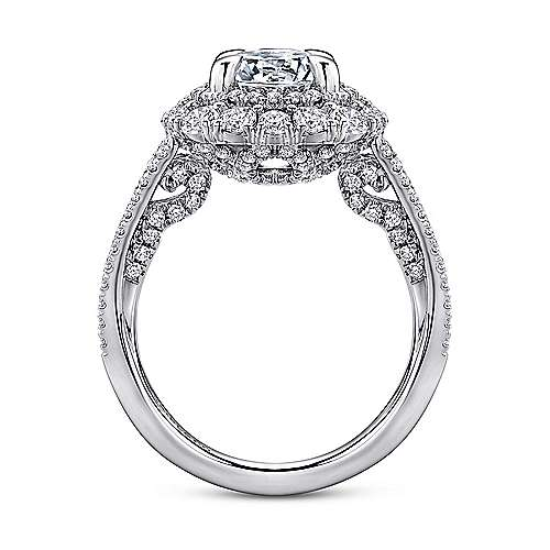 18K W.Gold Diamond Eng Ring angle 2