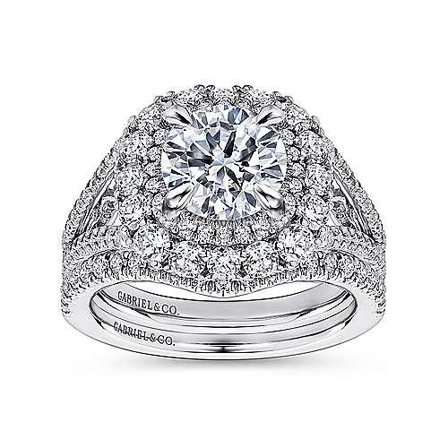 18K W.Gold Diamond Eng Ring angle 4
