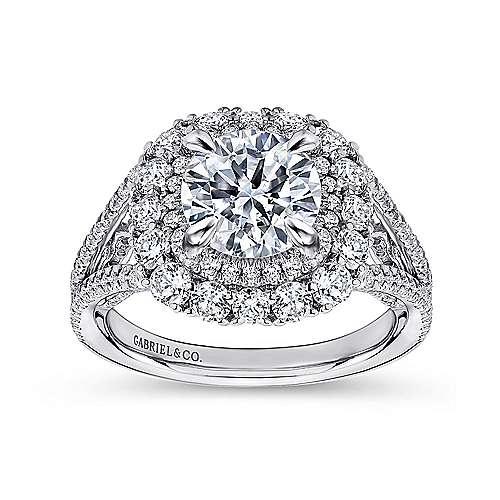 18K W.Gold Diamond Eng Ring angle 5