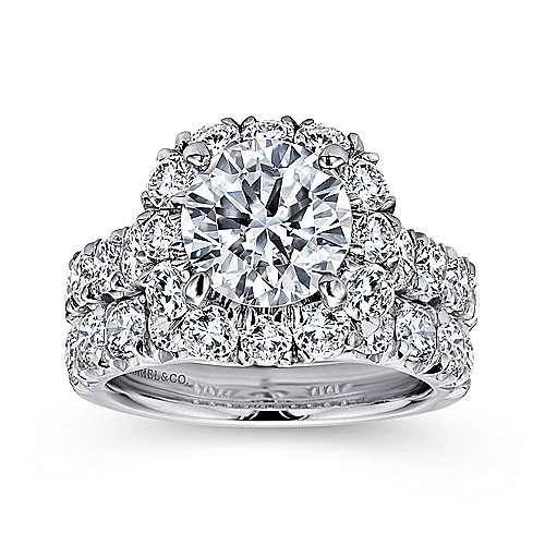 18K W.Gold Diamond Eng.Ring angle 4