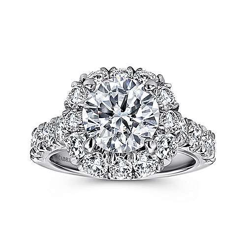 18K W.Gold Diamond Eng.Ring angle 5