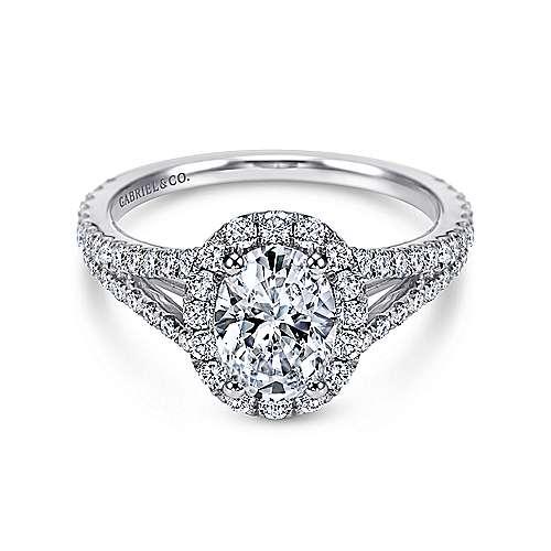 18K W.Gold Diamond Eng.Ring