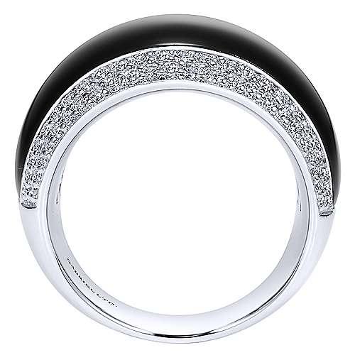 18K W.Gold,OnyxDia,Ring    angle 2