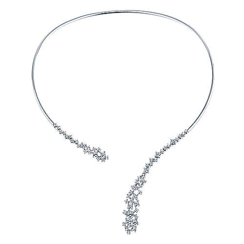 18KW. Gold Dia Necklace angle 2