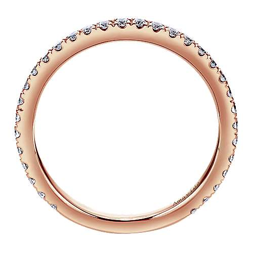 18k Pink Gold Contemporary Straight Wedding Band angle 2