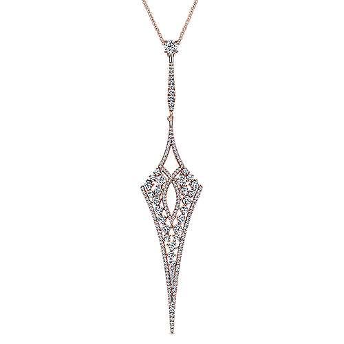 Gabriel - 18k Pink Gold Kaslique Fashion Necklace