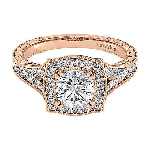 Gabriel - 18k Pink Gold Victorian Engagement Ring