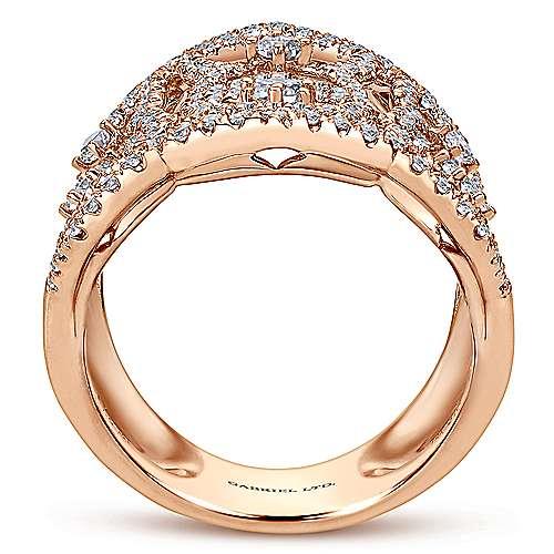 18k Pink Gold Diamond Statement Ladies