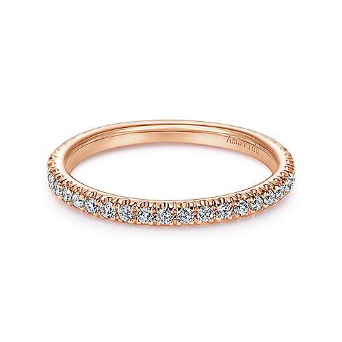 Gabriel - 18k Pink Gold Contemporary Straight Wedding Band