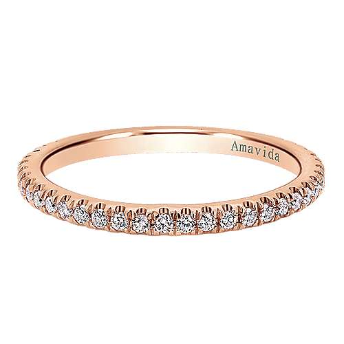 18k Pink Gold Contemporary Straight