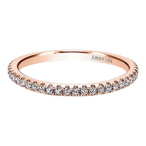 Gabriel - 18k Pink Gold Wedding Band