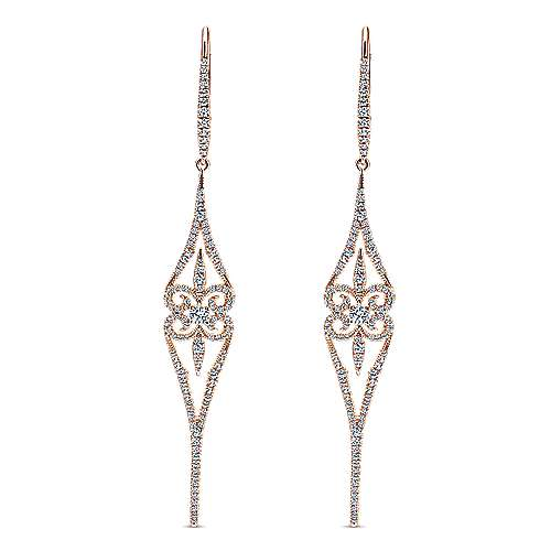 Gabriel - 18k Pink Gold Kaslique Drop Earrings