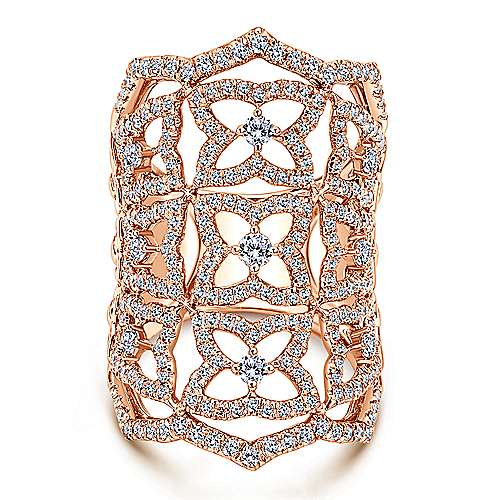 Gabriel - 18k Rose Gold Allure Statement Ladies' Ring
