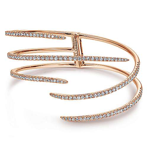 18k Rose Gold Kaslique Bangle angle 1