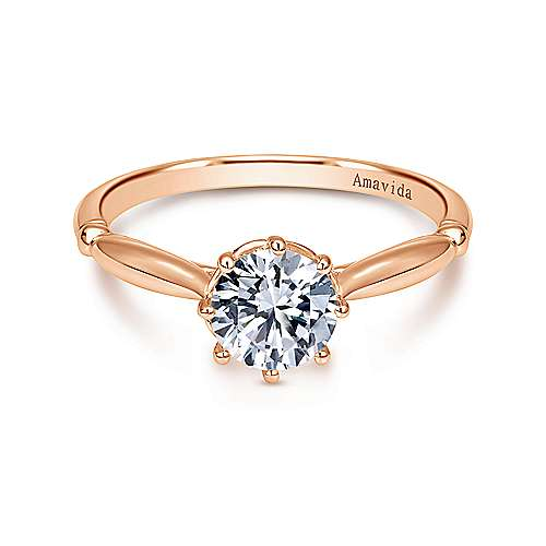 rings engagement rose jaeley amavida ring gold diamond gabriel halo round