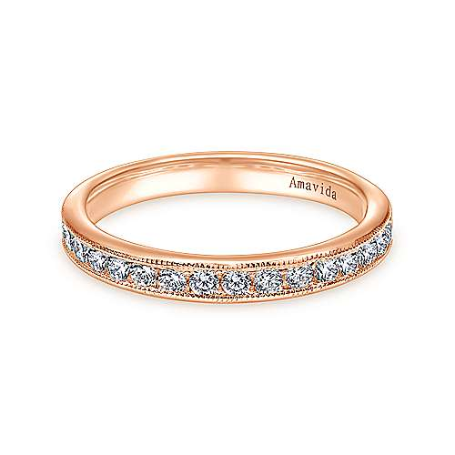 Gabriel - 18k Rose Gold Victorian Straight Wedding Band